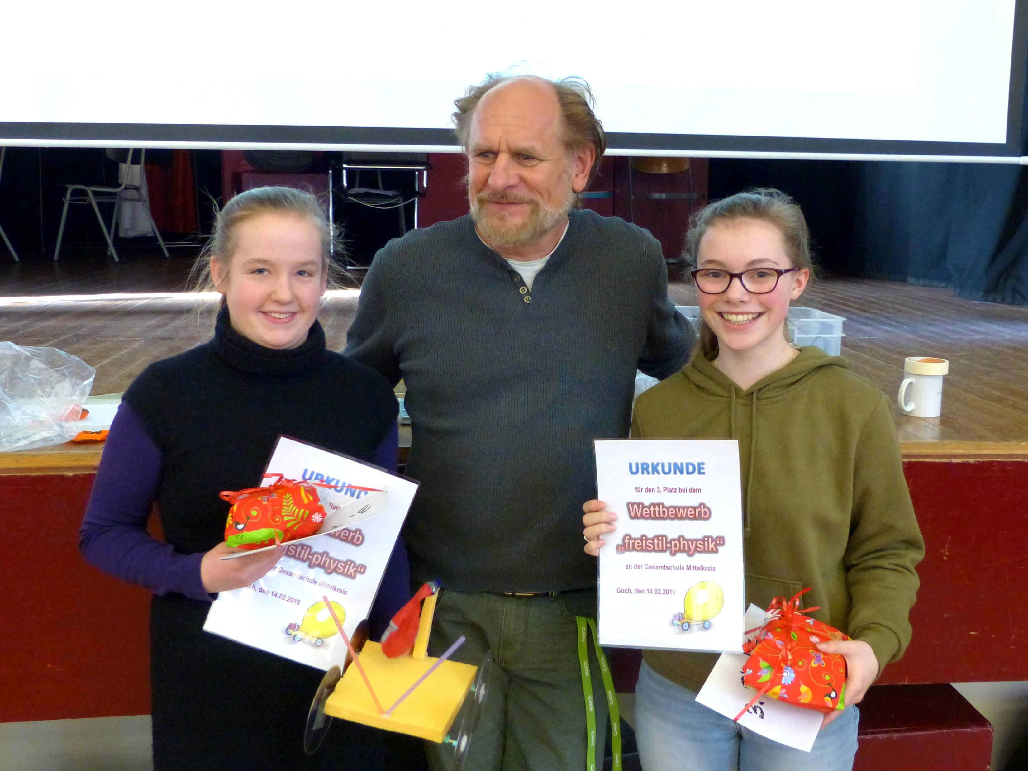 Einzelwertung 3. Platz: Ronja Artz und Luisa Kolmer