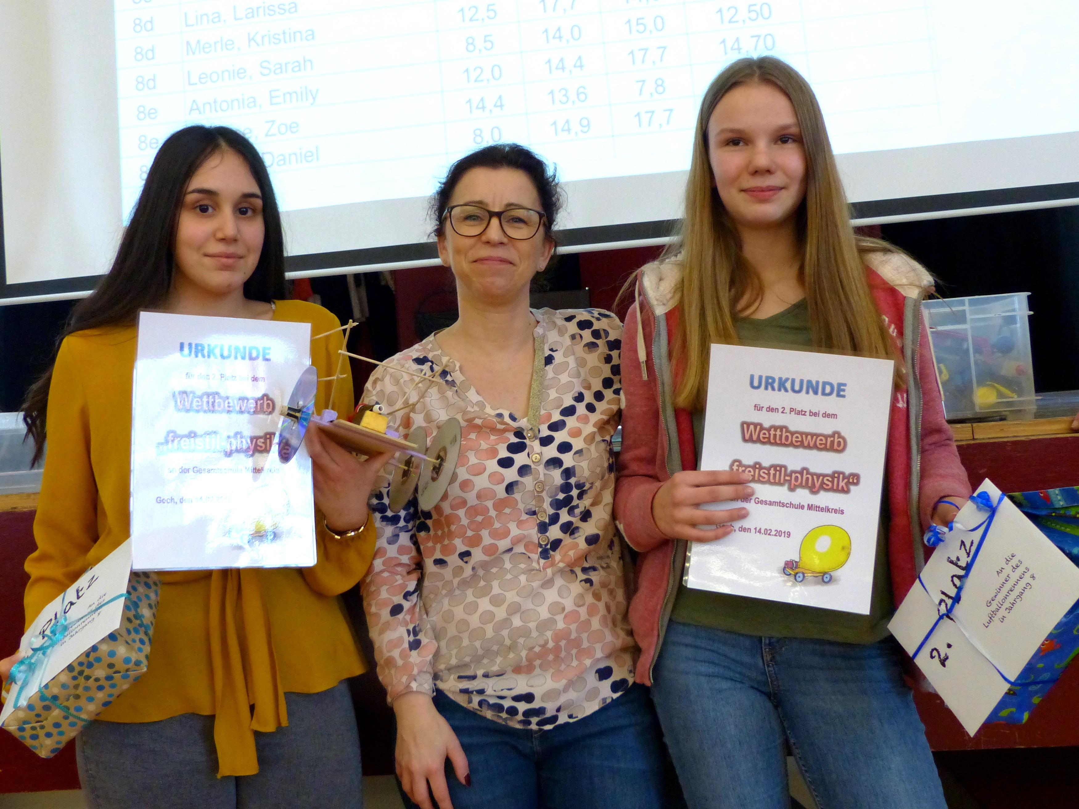 Einzelwertung 2. Platz: Dalya Özgen und Fenja van den Boom