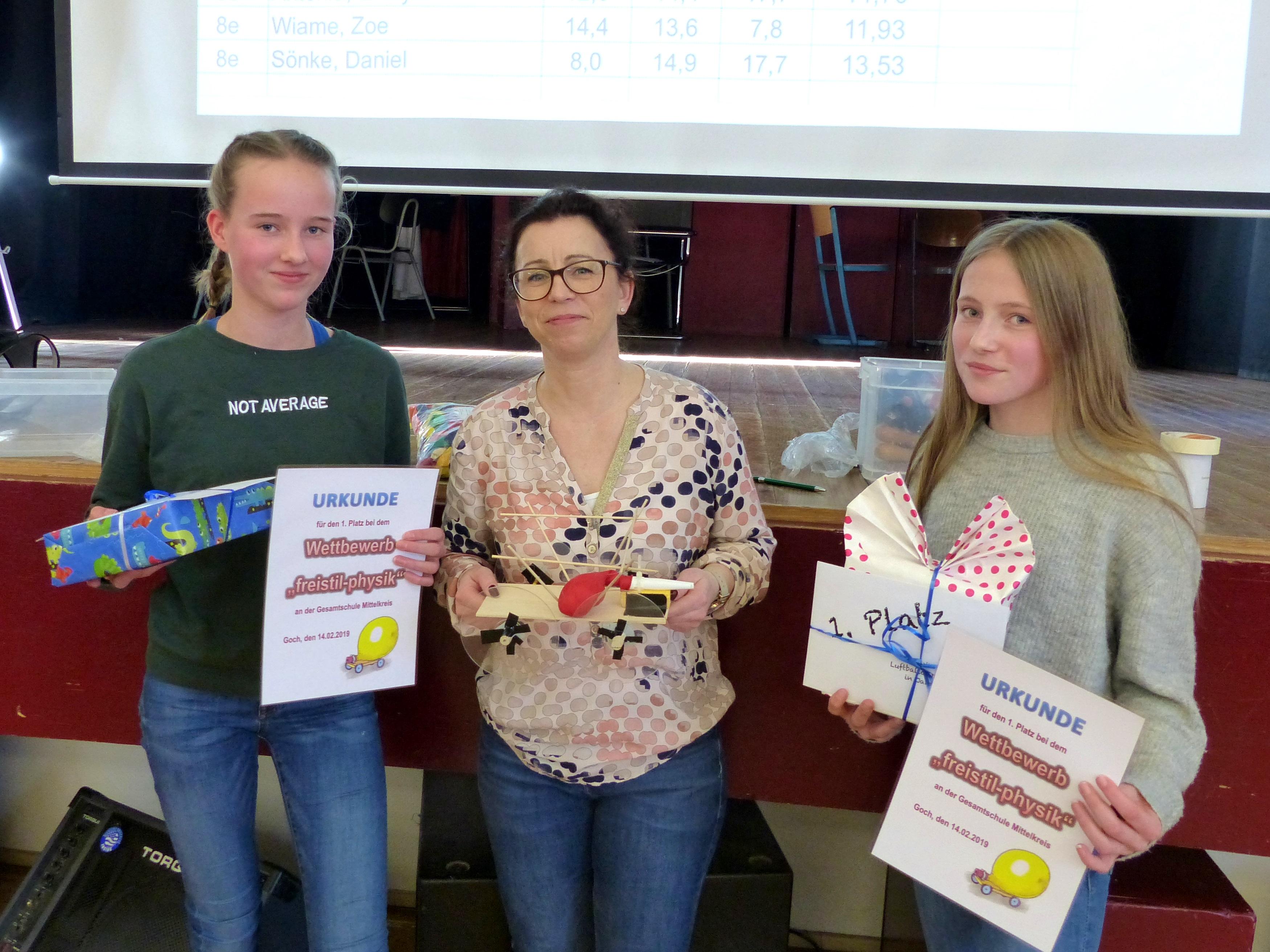 Einzelwertung 1. Platz: Ira Schoofs und Paula Teller