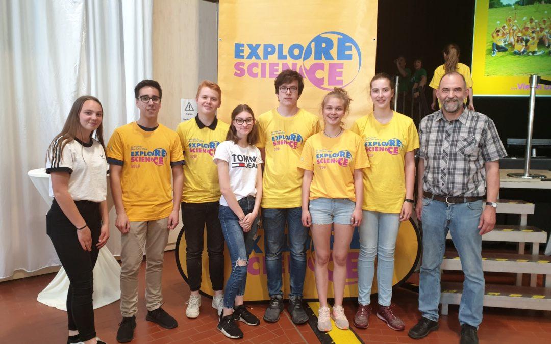 """Erfolgreiche Teilnahme bei """"explore science"""" in Mannheim"""