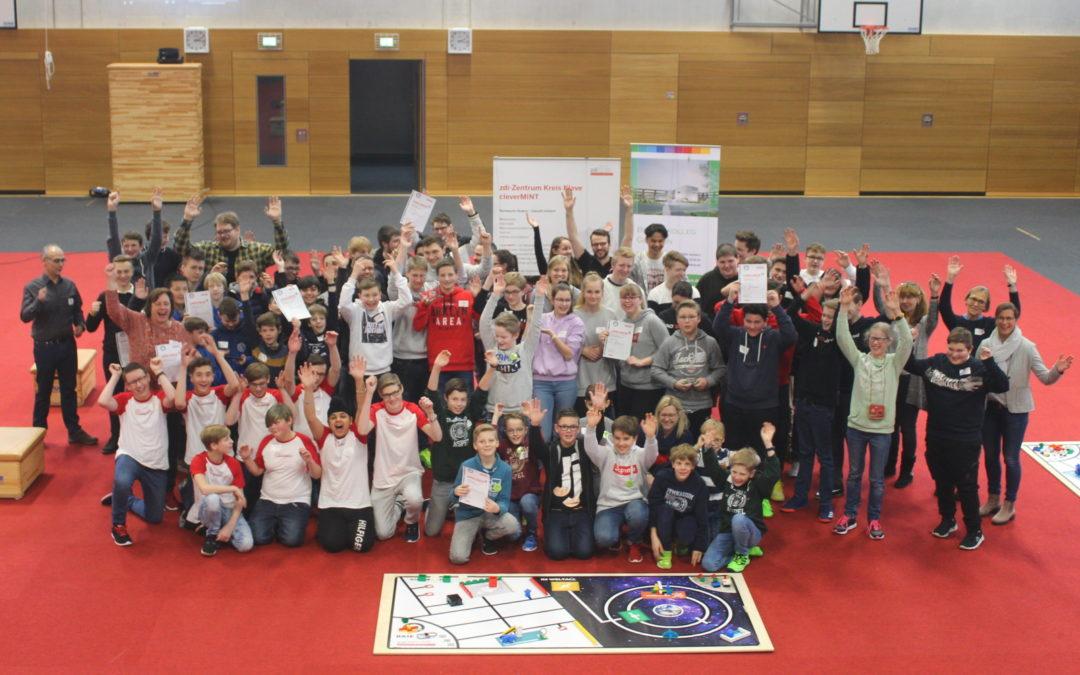 Erfolgreiche Teilnahme beim zdi-Roboterwettbewerb