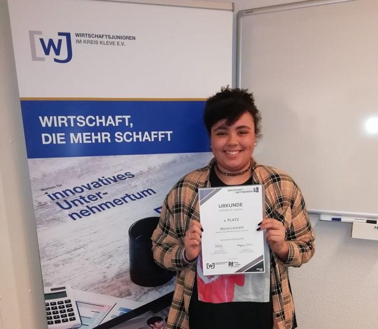 """""""Wirtschaftswissen im Wettbewerb"""" – 2. Platz für Alyssa Leonard (9d)"""