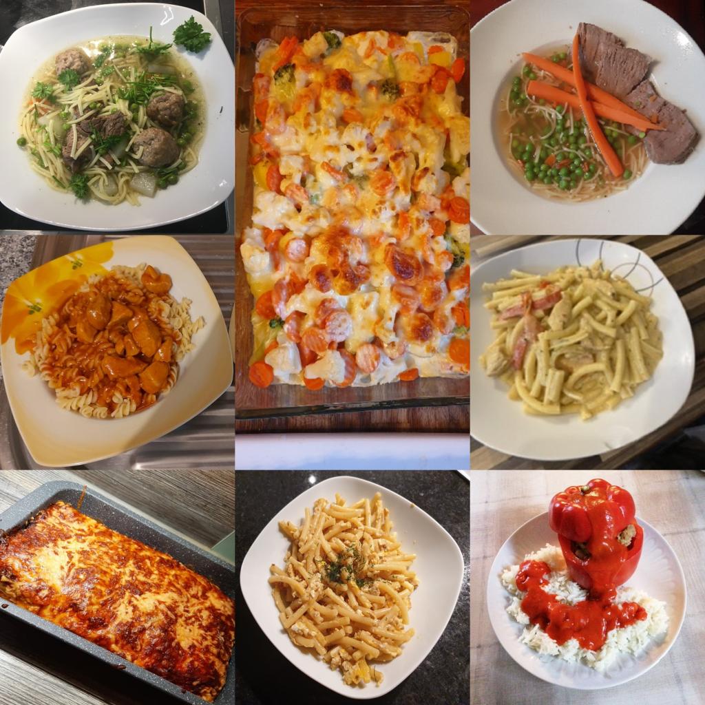 Einige Gerichte des Kochwettbewerbs der 6c